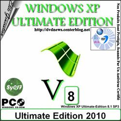 Windows XP Ultimate  SP3 edition 2010 (Ver 8.1)